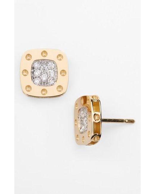 Roberto Coin - Metallic 'pois Moi' Diamond Stud Earrings - Lyst