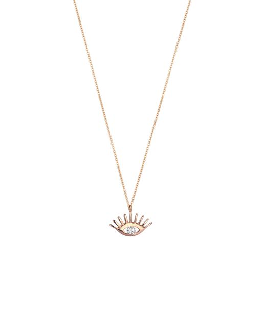 Kismet by Milka - Metallic Diamond Pendant Necklace - Lyst