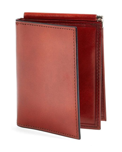 Bosca Brown Old Leather Money Clip Wallet for men