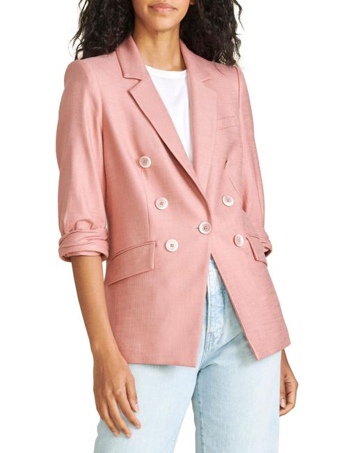 Veronica Beard Pink Odile Dickey Jacket