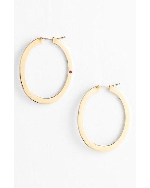 Roberto Coin | Yellow Large Flat Hoop Earrings | Lyst