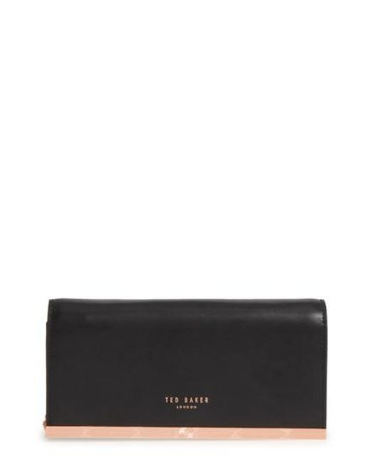 Ted Baker - Black Leather Matinee Wallet - Lyst