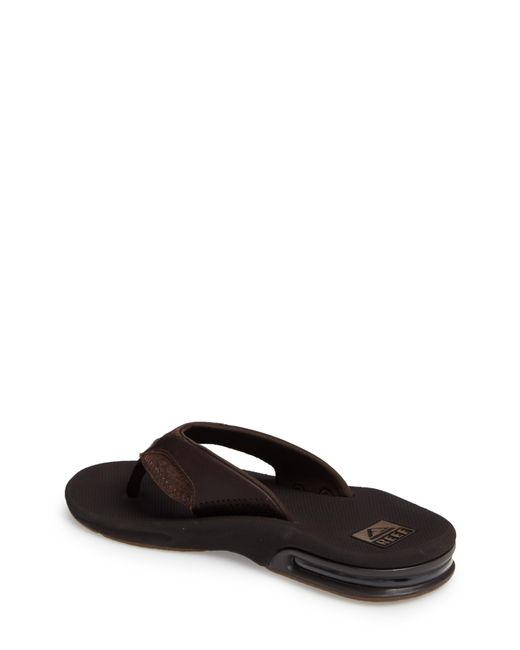 ac1b6a14473e ... Reef - Brown  fanning Leather  Flip Flop for Men - Lyst