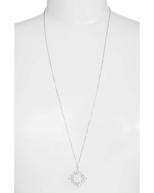CZ by Kenneth Jay Lane | Metallic Pendant Necklace | Lyst