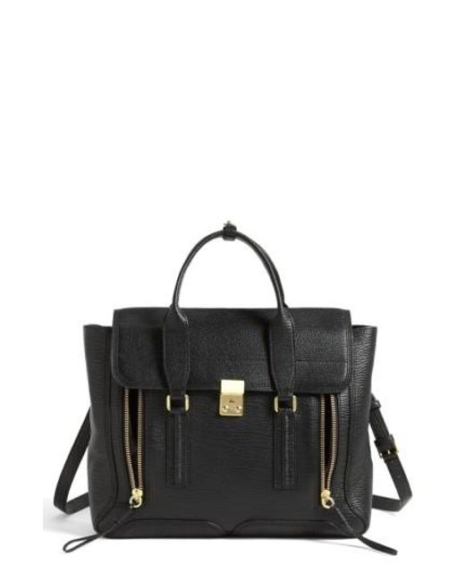 3.1 Phillip Lim | Black 'large Pashli' Leather Satchel | Lyst