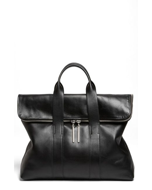 3.1 Phillip Lim | Black '31 Hour' Leather Tote | Lyst