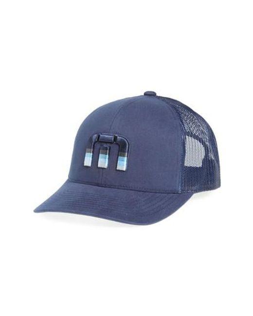 Travis Mathew | Blue Trucker Hat for Men | Lyst