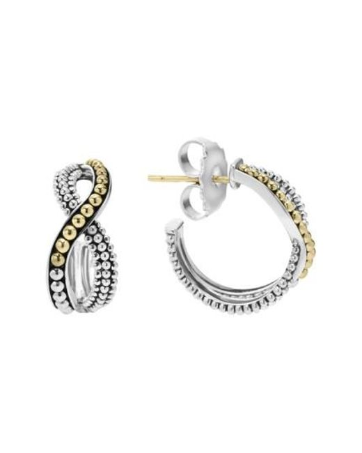 Lagos | Metallic Infinity Double Twist Hoop Earrings | Lyst