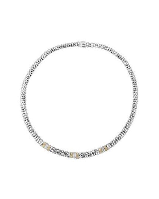 Lagos - Metallic Diamond Lux Triple Station Collar Necklace - Lyst