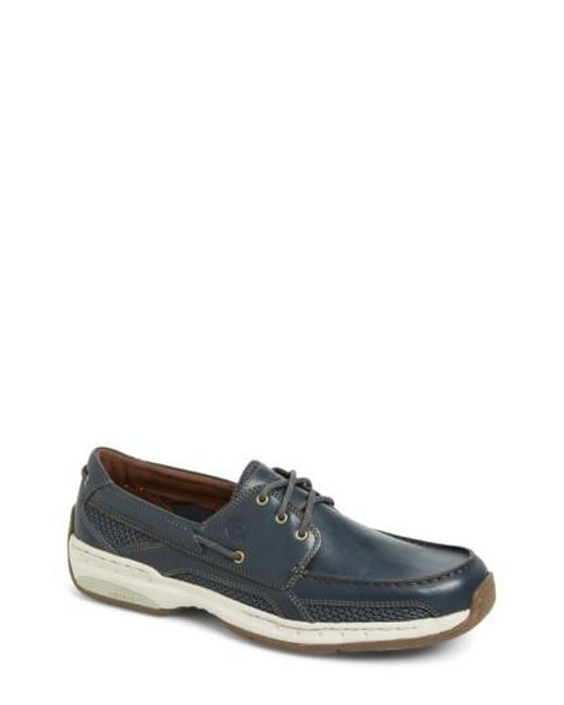 Dunham | Blue 'captain' Boat Shoe for Men | Lyst