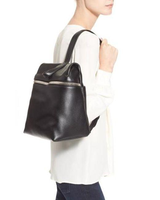 Kara - Black Leather Backpack - Lyst