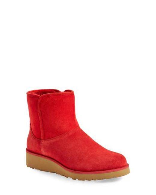 Ugg - Red Ugg 'kristin - Classic Slim(tm)' Water Resistant Mini Boot - Lyst
