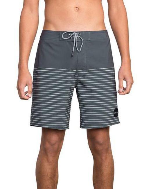 RVCA - Gray Curren Swim Trunks for Men - Lyst