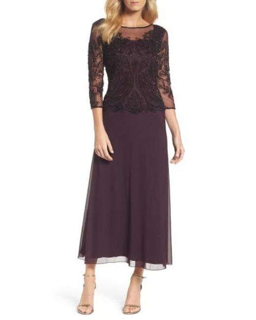 Pisarro Nights | Purple Embellished Mesh Gown | Lyst