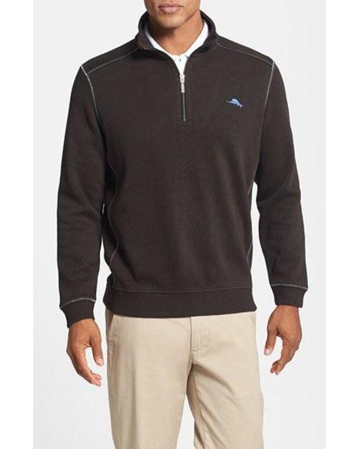 Tommy Bahama   Black 'antigua' Half Zip Pullover for Men   Lyst