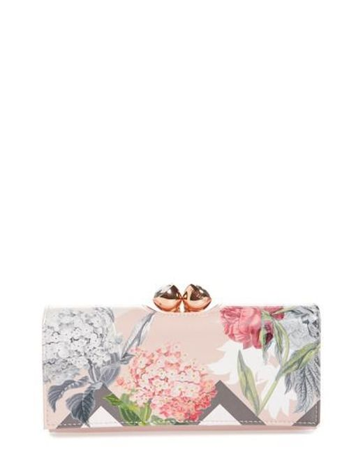 Ted Baker - Pink Palace Gardens Matinee Wallet - Lyst