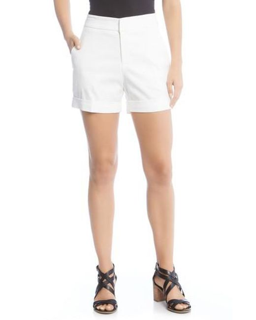 Karen Kane - Black Cuff Shorts - Lyst