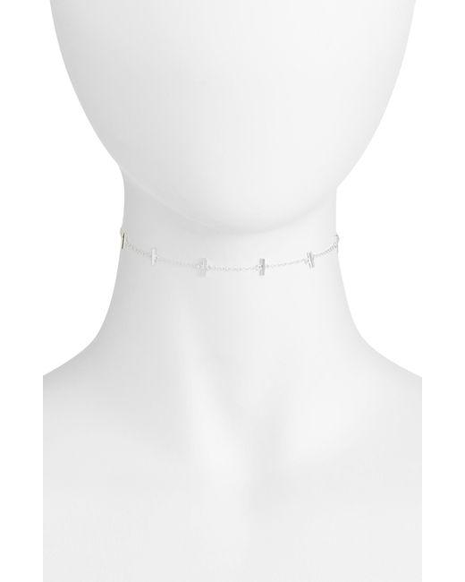 Argento Vivo - White Bar Station Chain Choker - Lyst
