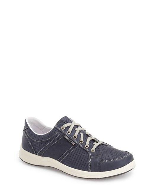 Mephisto | Blue 'hero' Perforated Sneaker for Men | Lyst