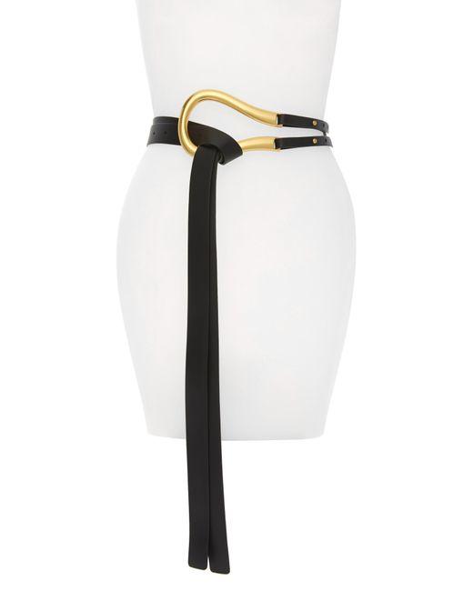 Bottega Veneta Black Leather Belt