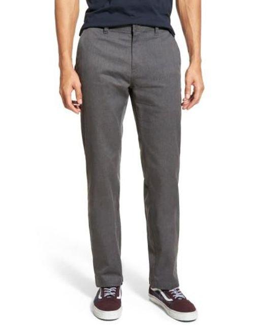 Volcom - Gray Stretch Modern Chinos for Men - Lyst