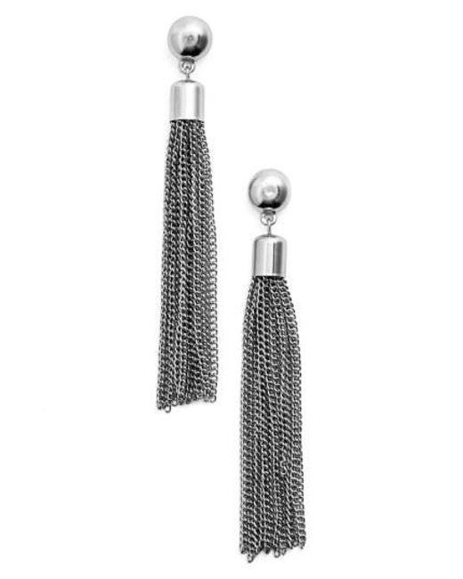 Karine Sultan - Multicolor Tassel Drop Earrings - Lyst