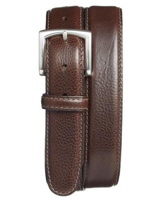 Bosca - Brown Calfskin Leather Belt for Men - Lyst