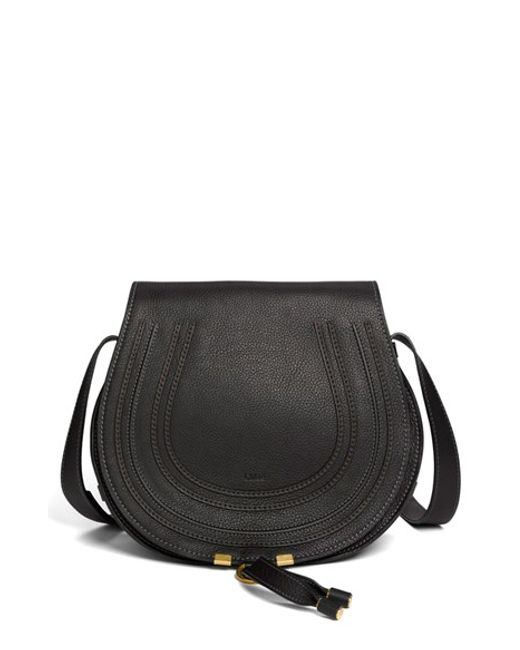 Chloé | Gray 'marcie - Medium' Leather Crossbody Bag | Lyst