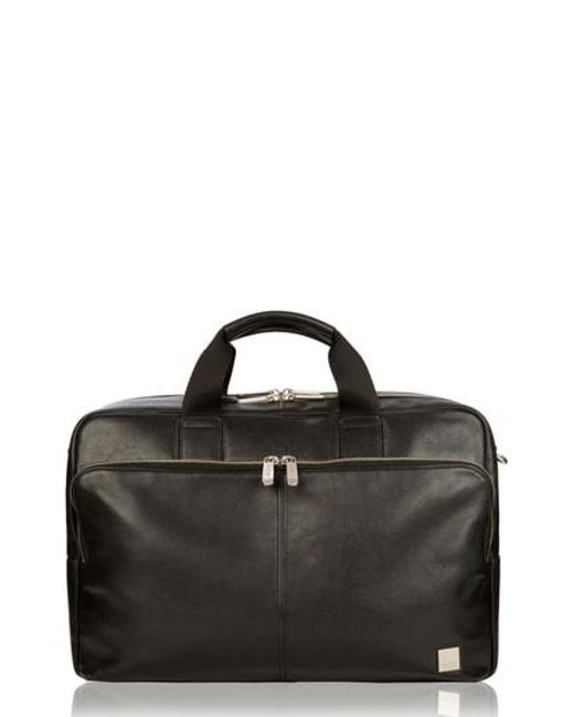 Knomo - Black Brompton Amesbury Leather Briefcase for Men - Lyst