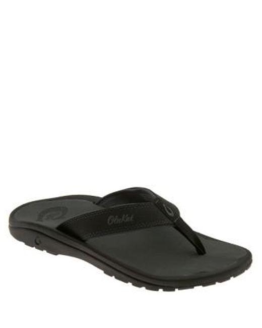 Olukai | Black 'ohana' Flip Flop for Men | Lyst