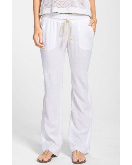 Roxy | Blue 'oceanside' Beach Pants | Lyst