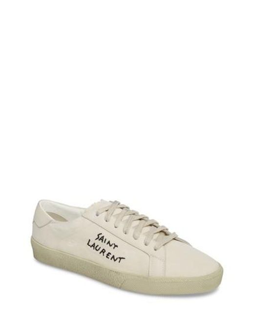 Saint Laurent - Multicolor Embroidered Low Top Sneaker - Lyst