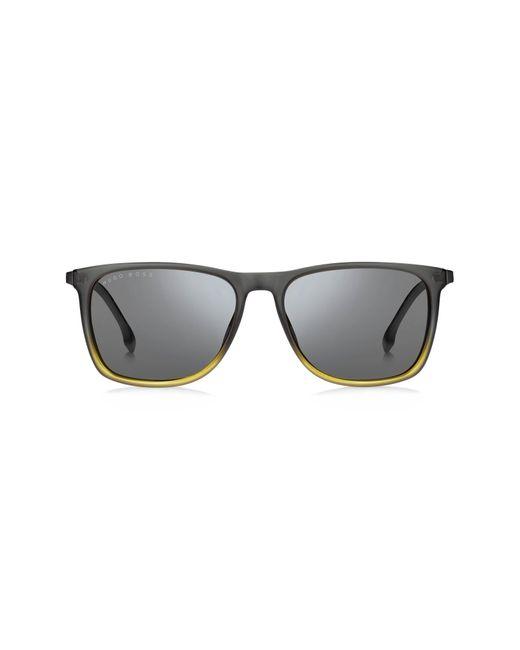BOSS by Hugo Boss Metallic 56mm Polarized Rectangle Sunglasses