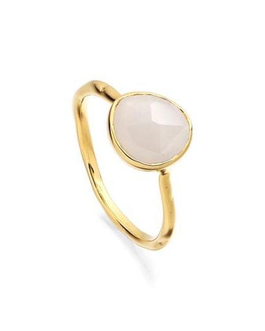 Monica Vinader | Metallic Siren Semiprecious Stone Stacking Ring | Lyst
