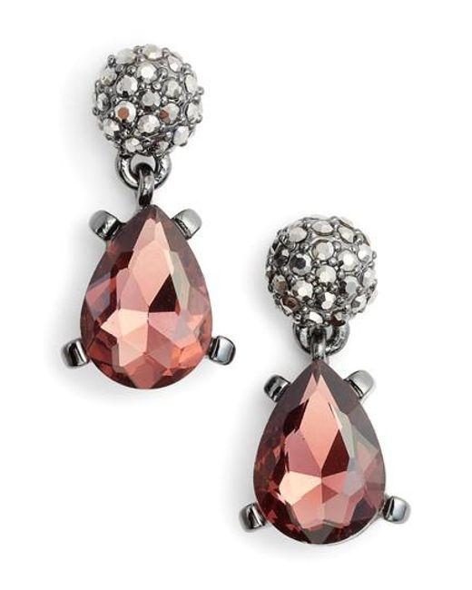 Badgley Mischka | Multicolor Jewel Drop Earrings | Lyst