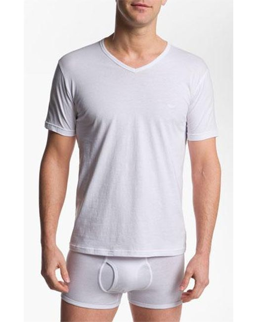 Emporio Armani   3-pack T-shirt, White for Men   Lyst
