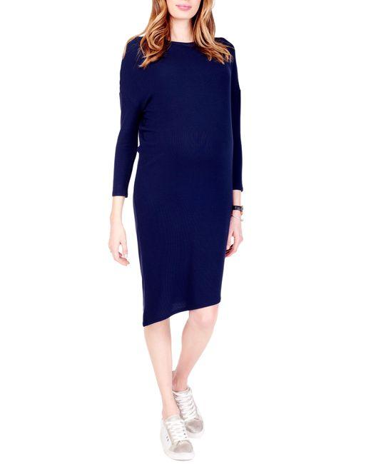 Ingrid & Isabel - Blue Ingrid & Isabel Asymmetrical Maternity Dress - Lyst