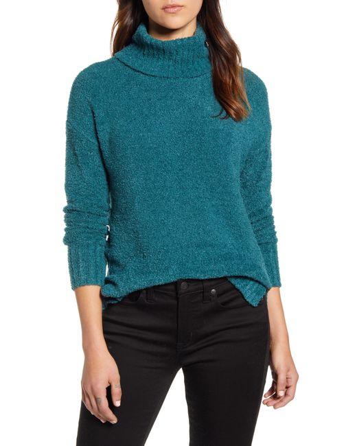 Caslon Blue Caslon Cozy Relaxed Turtleneck Sweater