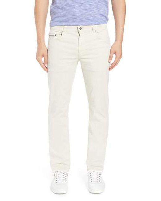 Bugatchi - Natural Slim Fit Washed Five-pocket Pants for Men - Lyst