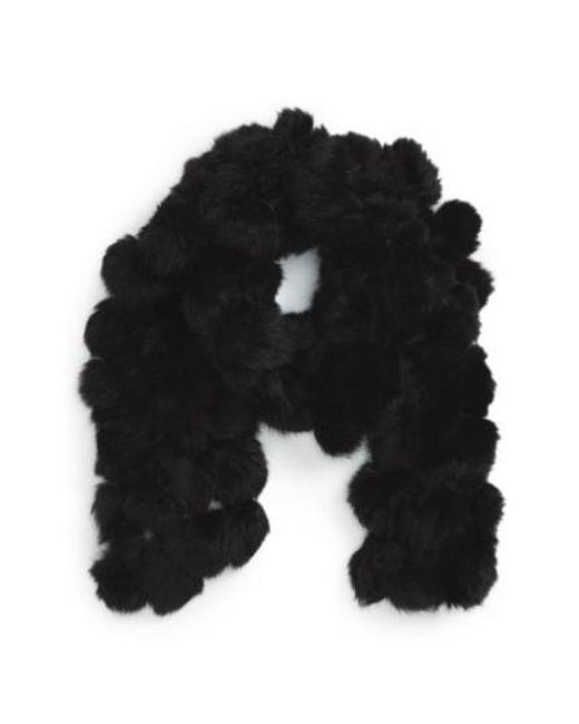La Fiorentina - Black Genuine Rabbit Fur Scarf - Lyst