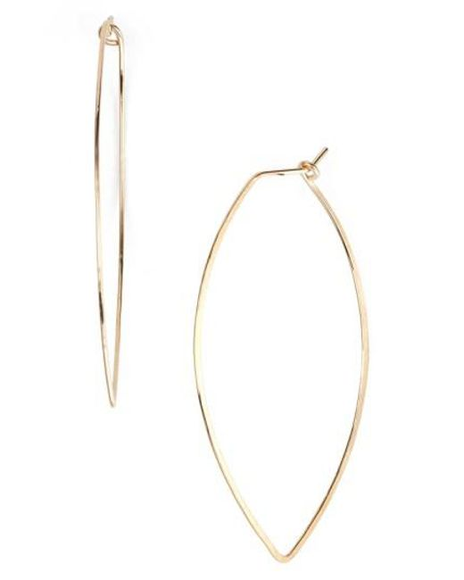 Nashelle   Metallic Ija Marquise Hoop Earrings   Lyst