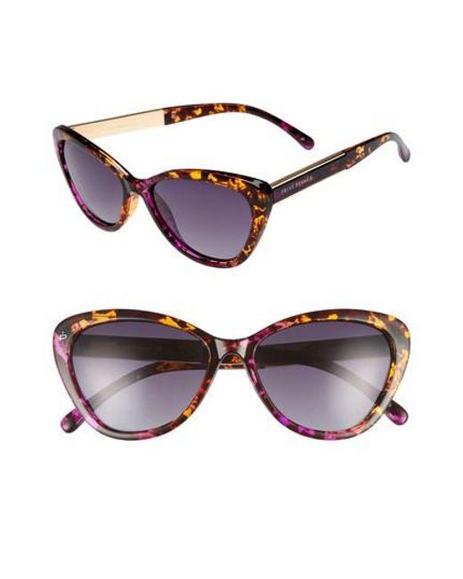 Privé Revaux - The Hepburn 56mm Cat Eye Sunglasses - Purple - Lyst