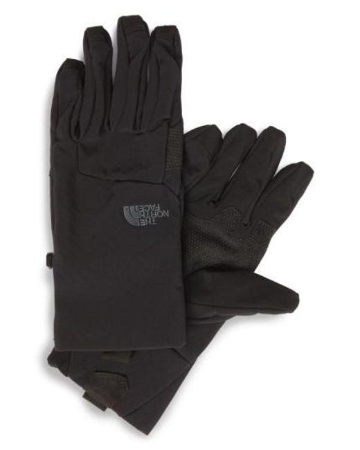 The North Face | Black 'etip Apex' Waterproof Climateblock Gloves for Men | Lyst