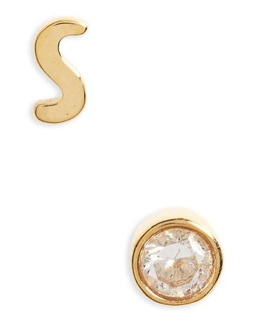 Kate Spade | Metallic One In A Million Mismatched Stud Earrings | Lyst