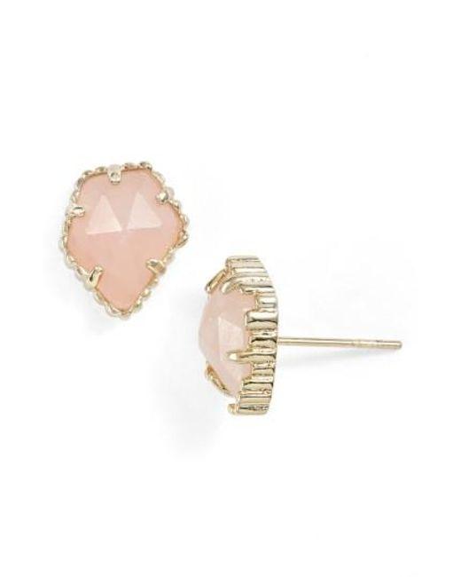 Kendra Scott   Metallic Tessa Stone Stud Earrings   Lyst