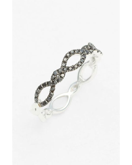 Bony Levy | Black Stackable Weave Diamond Ring (nordstrom Exclusive) | Lyst