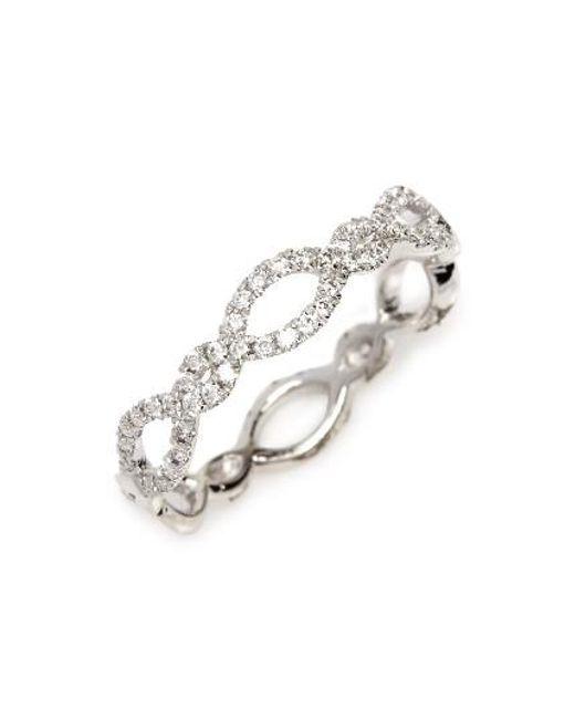 Bony Levy   Metallic Stackable Weave Diamond Ring (nordstrom Exclusive)   Lyst