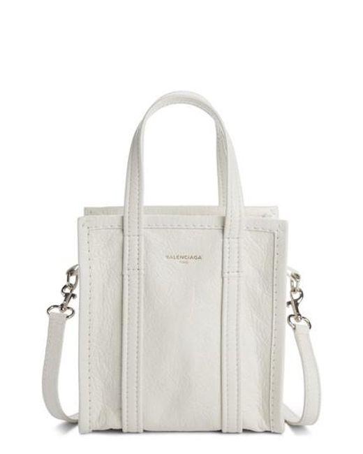 Balenciaga - White Extra Extra Small Bazar Aj Shopper - Lyst