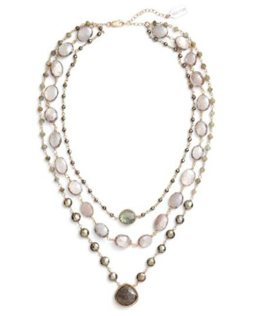 Ela Rae - Metallic Multistrand Necklace - Lyst