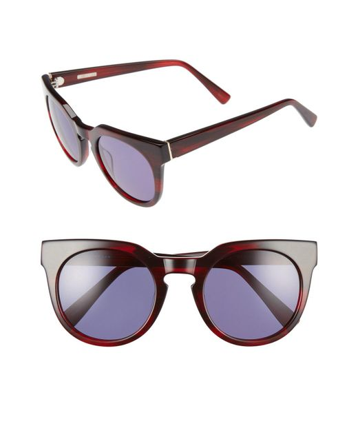 Derek Lam - Purple 'stella' 51mm Round Sunglasses - Lyst
